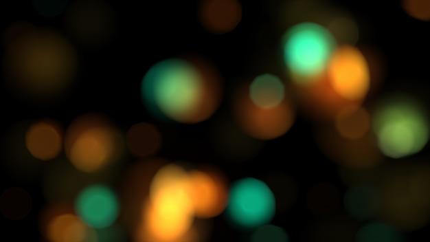 Abstracte kleurrijke lichten in defocus 3d illustratie