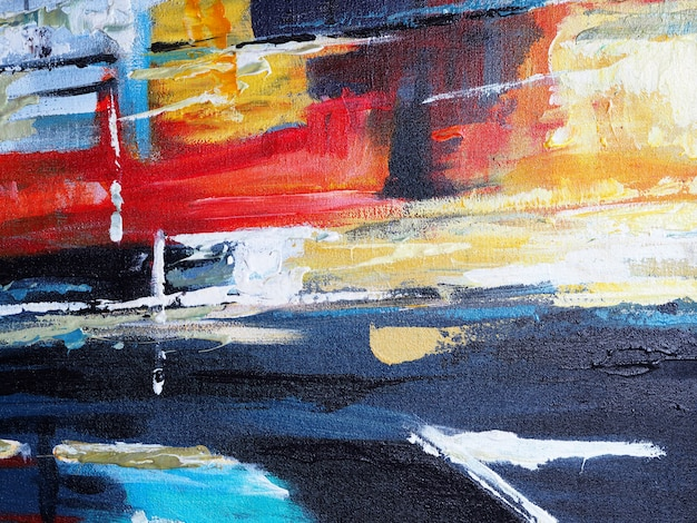 Abstracte kleurrijke olieverf multikleuren.
