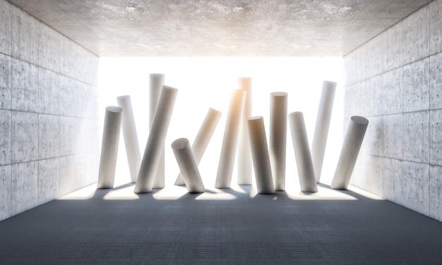 Abstracte kolommen 3d