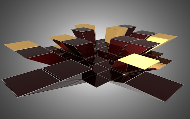 Abstracte kubussenachtergrond. 3d illustratie