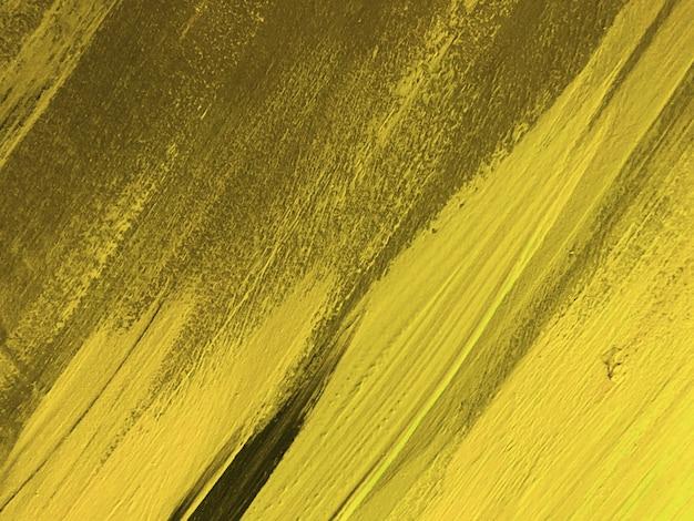 Abstracte kunst achtergrond donker gele en gouden kleuren. aquarel op canvas met olijfverloop.