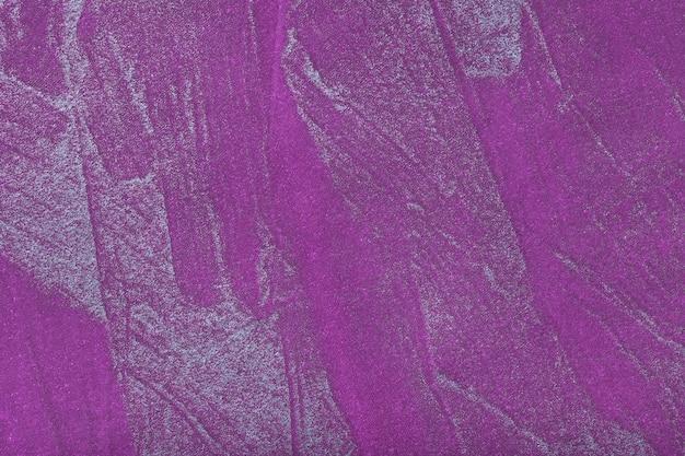 Abstracte kunst achtergrond donker violet met zilveren kleur. veelkleurig schilderij op canvas.