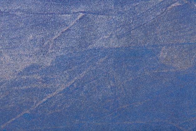 Abstracte kunst achtergrond marineblauwe en zilveren kleur. veelkleurig schilderij op canvas.