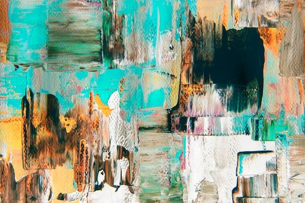 Abstracte kunst achtergrondbehang, getextureerde acrylverf met gemengde kleuren