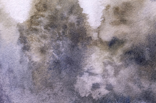 Abstracte kunst donkere paarse en witte kleuren als achtergrond. aquarel op doek.