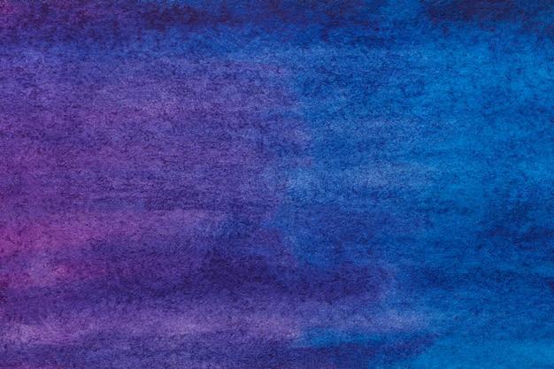 Abstracte kunst donkerpaarse en marineblauwe kleuren als achtergrond. aquarel schilderij op canvas.