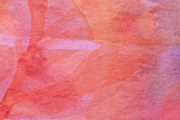 Abstracte kunst donkerrode en roze kleuren als achtergrond. aquarel op doek.