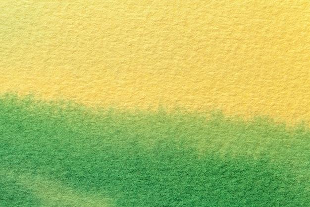 Abstracte kunst groene en gele kleuren.