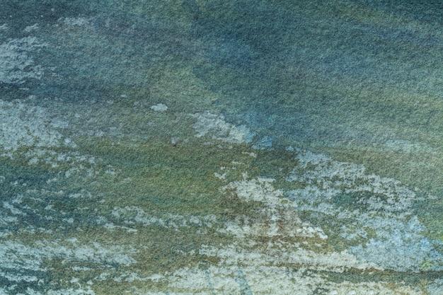 Abstracte kunst groene en turkooise kleuren als achtergrond. aquarel schilderij op canvas