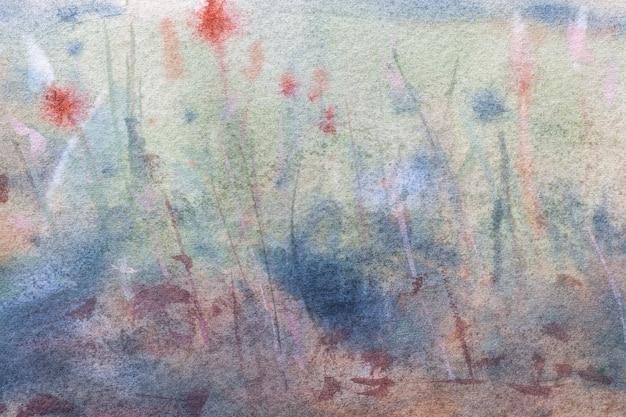 Abstracte kunst lichtblauwe en donkergroene kleuren als achtergrond.
