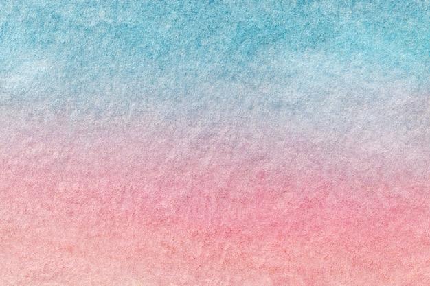 Abstracte kunst lichtblauwe en roze kleuren als achtergrond. aquarel schilderij op canvas.