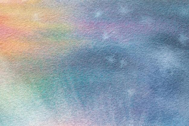 Abstracte kunst lichtblauwe en turkooise kleuren als achtergrond. aquarel schilderij op canvas.