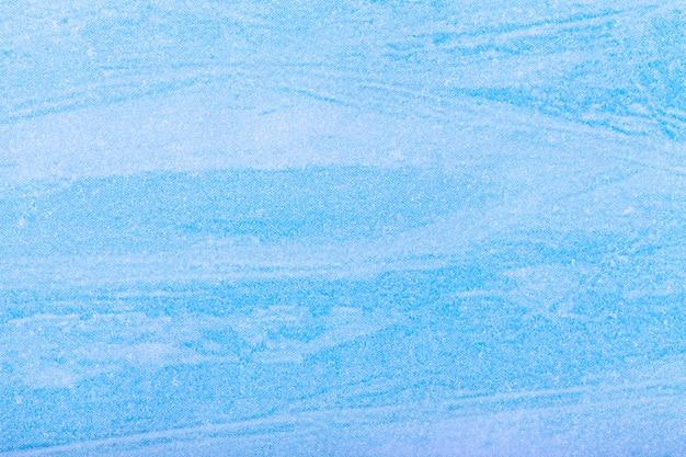 Abstracte kunst lichtblauwe en witte kleur als achtergrond. multicolor schilderij op canvas.