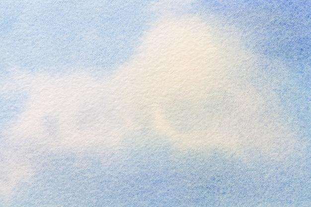Abstracte kunst lichtblauwe en witte kleuren als achtergrond. aquarel schilderij op canvas.