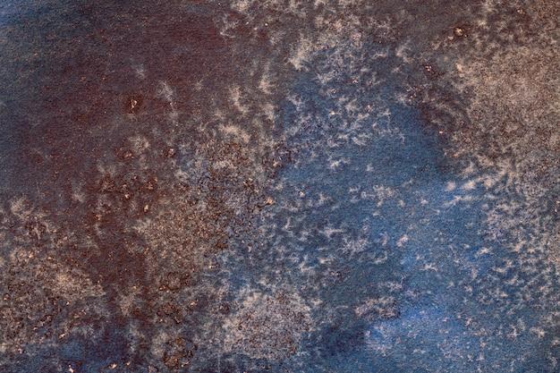 Abstracte kunst marineblauwe en bruine kleuren als achtergrond.