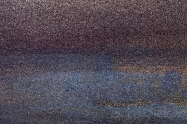 Abstracte kunst marineblauwe en donkerbruine kleuren.