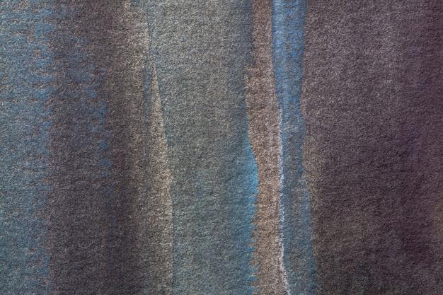 Abstracte kunst marineblauwe en donkere bruine kleuren als achtergrond. aquarel op canvas.