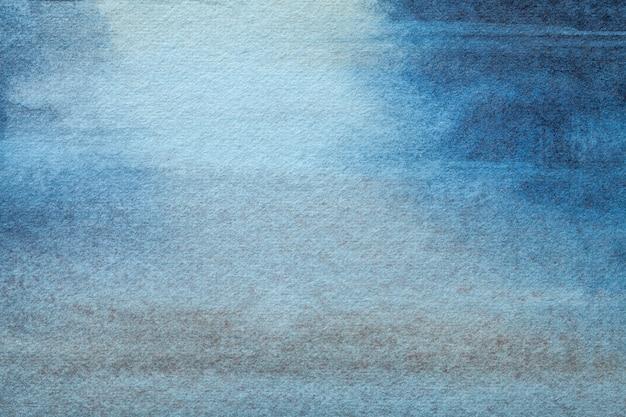 Abstracte kunst marineblauwe en turquoise kleuren.