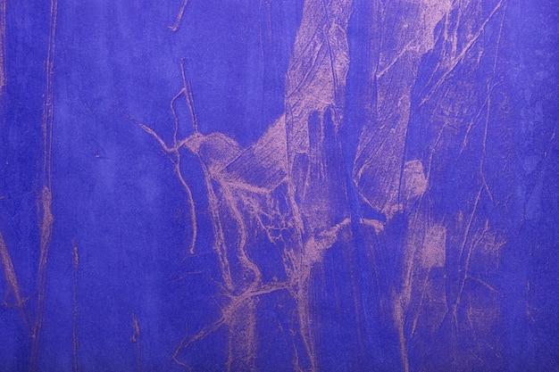 Abstracte kunst marineblauwe en zilveren kleuren als achtergrond. aquarel op canvas met saffier verloop.