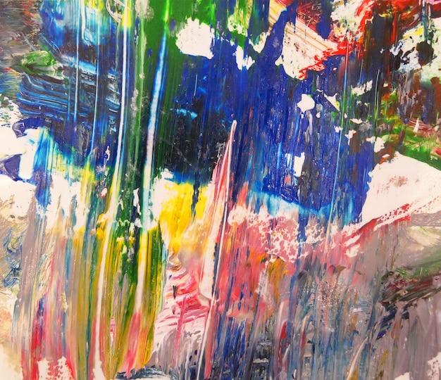 Abstracte kunst met spatten van de veelkleurige achtergrond van de olieverfschilderijtextuur.