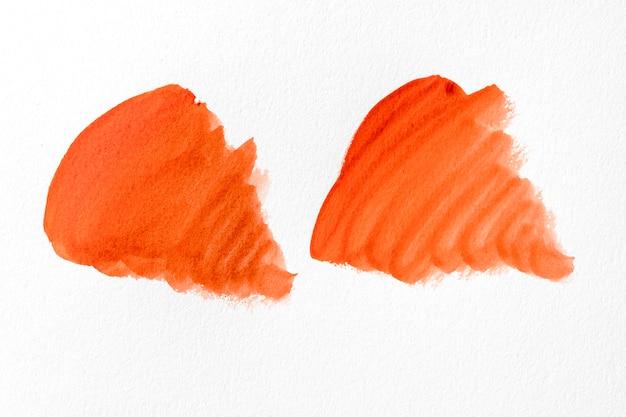 Abstracte kunst oranje verfvlekken