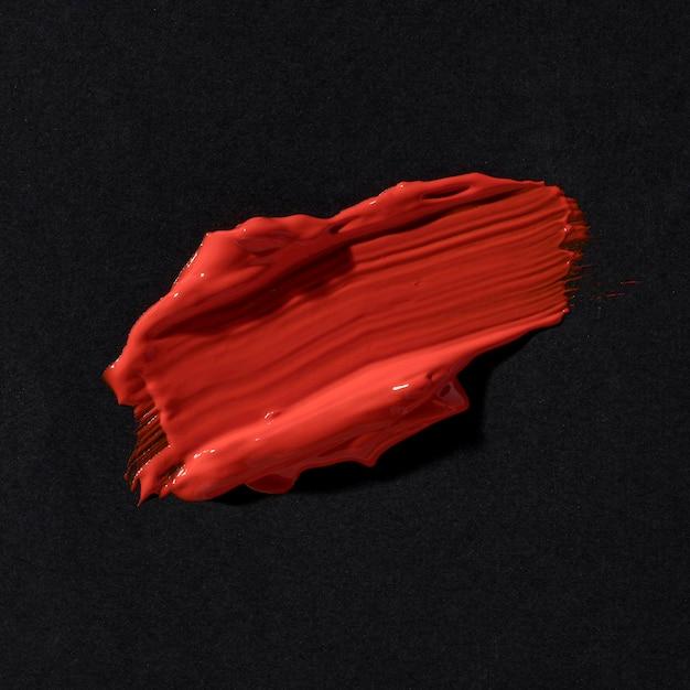 Abstracte kunst rode penseelstreek