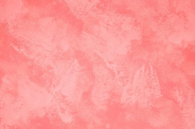 Abstracte kunst schilderij in levende koraal toon kleur voor textuur achtergrond