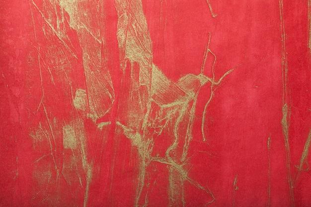 Abstracte kunstachtergrond donkerrood met gouden kleur