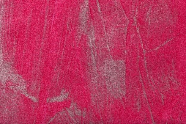 Abstracte kunstachtergrond donkerrood met zilveren kleur.