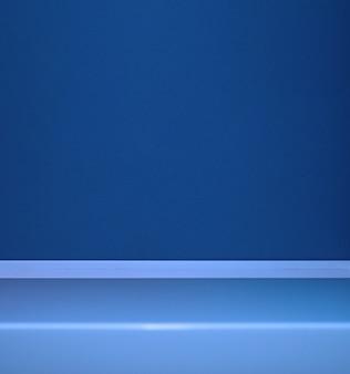 Abstracte lege blauwe achtergrond scène voor reclame cosmetische advertenties showcase presentatiewebsite