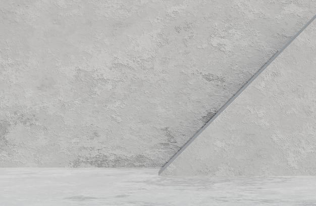 Abstracte lege kamer betonnen muur achtergrond grunge textuur stijl., 3d-model en illustratie.
