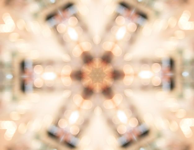 Abstracte lichte caleidoscoop, textuurachtergrond, bokeh-verlichting, psychedelisch art