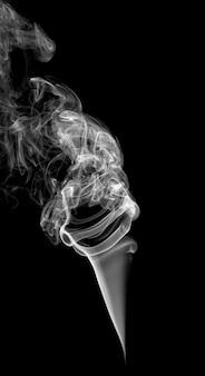 Abstracte lichte rook op een donkere achtergrond