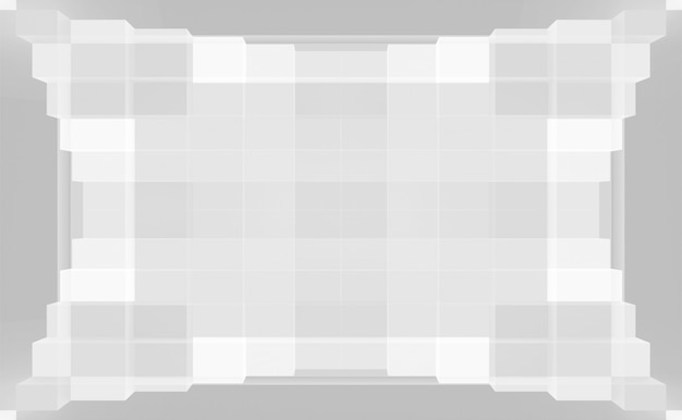 Abstracte lichte toon vierkante geometrische vorm patroon sjabloon achtergrond.