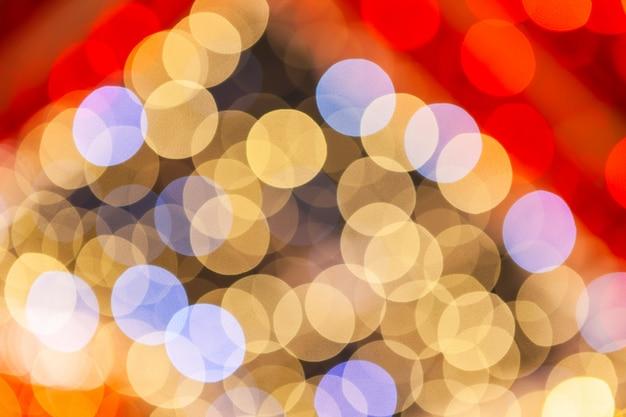 Abstracte lichten als achtergrond, een abstracte blik op de kerstmislichten