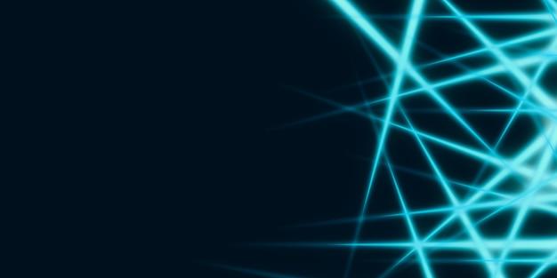 Abstracte lichtlijnen gloeiende lijnen op een donkere achtergrond 3d illustratie