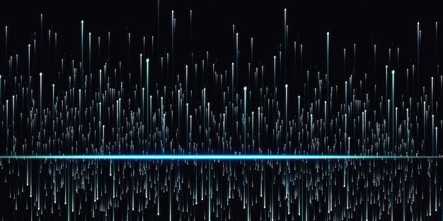 Abstracte lichtlijnen gloeiende meteoor technologie achtergrond 3d illustratie