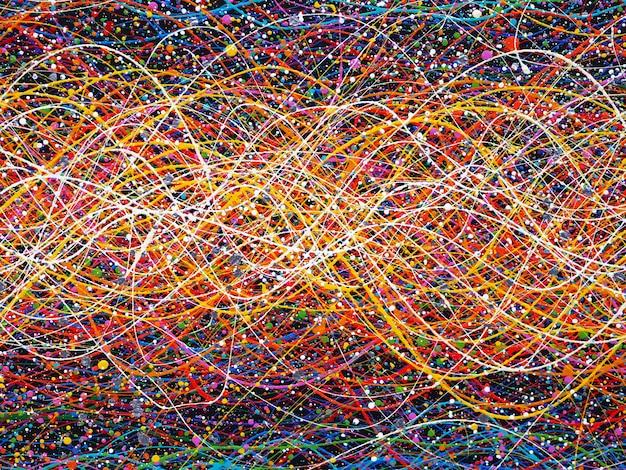 Abstracte lijnen kleurrijke achtergrond met textuur.