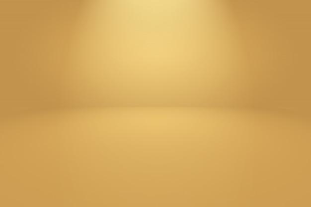 Abstracte luxe goud gele gradiënt studio muur