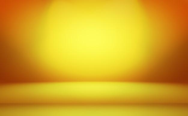 Abstracte luxe goud gele kleurovergang studio muur achtergrond