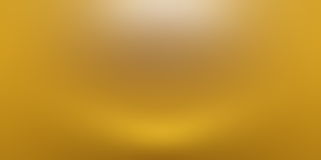 Abstracte luxe gouden gele gradiënt studio muur, goed te gebruiken als achtergrond, lay-out, banner en productpresentatie.