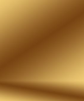 Abstracte luxe goudgele gradiënt studiomuur goed te gebruiken als achtergrondlayoutbanner en productpres...