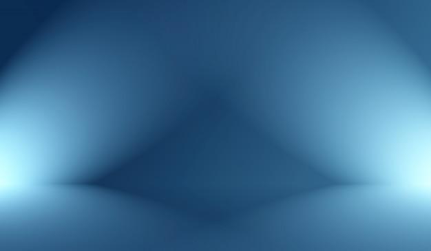 Abstracte luxe verloop blauwe achtergrond. glad donkerblauw met zwarte vignet studio banner.