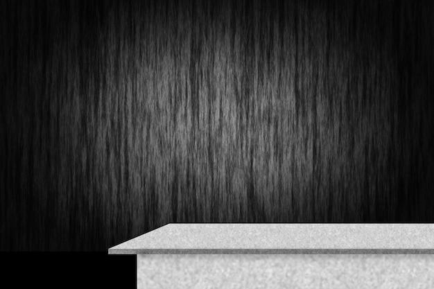 Abstracte luxe zwarte gradiënt met grens zwarte vignet achtergrond studio achtergrond met cement plank
