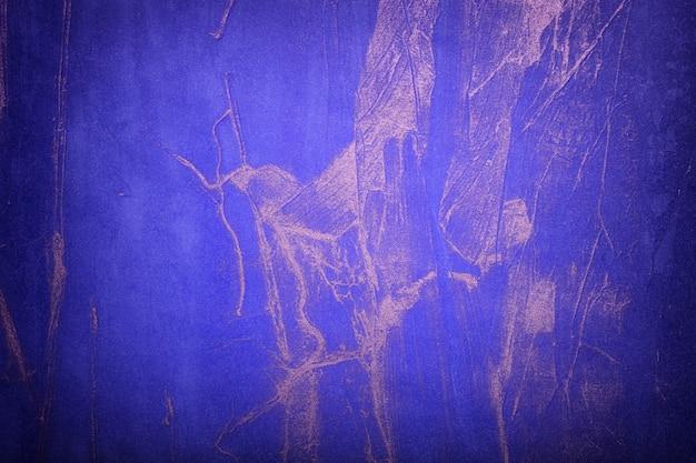 Abstracte marineblauwe en zilveren kleuren met donker vignet. aquarel op canvas met saffier verloop.