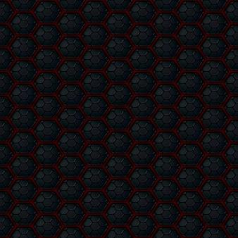 Abstracte metaalachtergrond met hexagonaal ontwerp