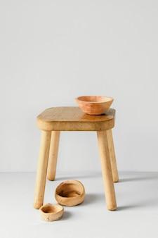 Abstracte minimale binnenshuis houten decoratie