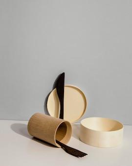 Abstracte minimale keukenobjecten
