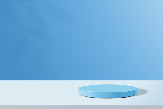 Abstracte minimale scène met geometrische vormen cilinder podium in kleur achtergrond
