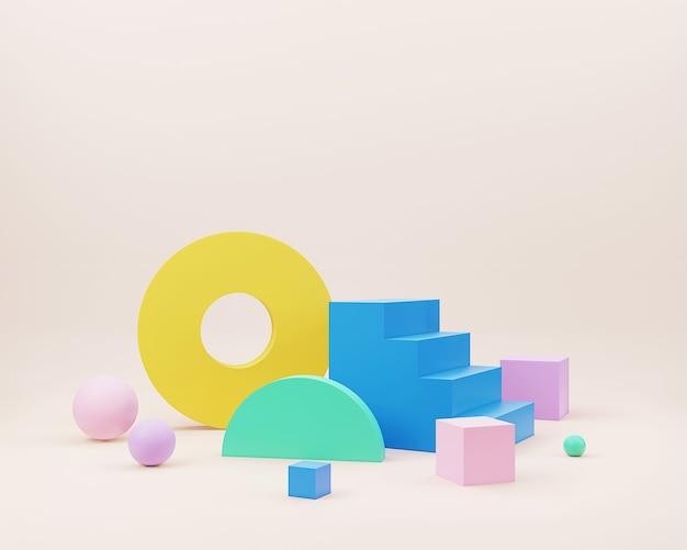 Abstracte minimale scène met geometrische vormen